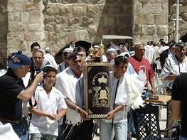 Bringing out the Torah Scroll